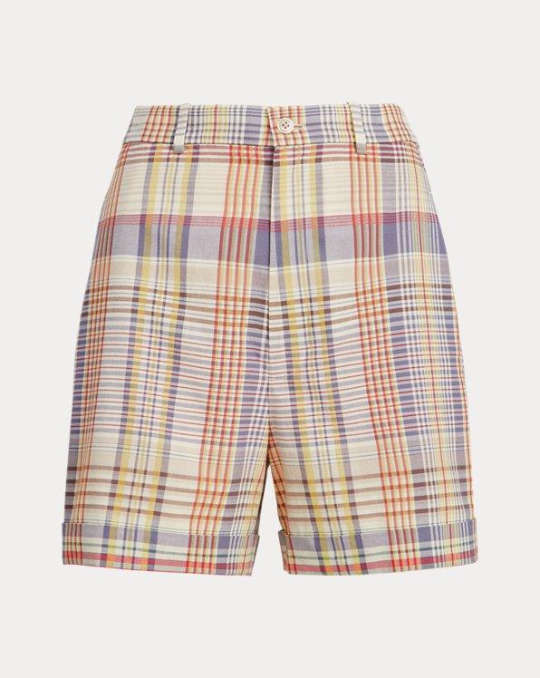 Pantalón corto de madrás de algodón