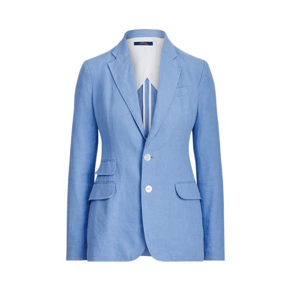 폴로 랄프로렌 Polo Ralph Lauren Single Breasted Linen Blazer,Chambray Blue