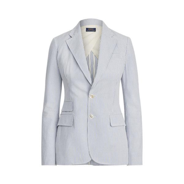 폴로 랄프로렌 Polo Ralph Lauren Cotton Seersucker Blazer,Blue/White Seersucker