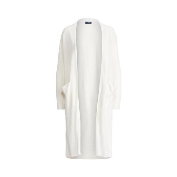 폴로 랄프로렌 Polo Ralph Lauren Linen Open Front Cardigan,White