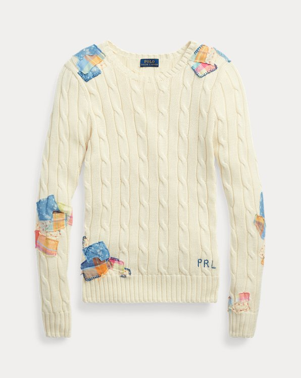 Patchwork Cable-Knit Sweater