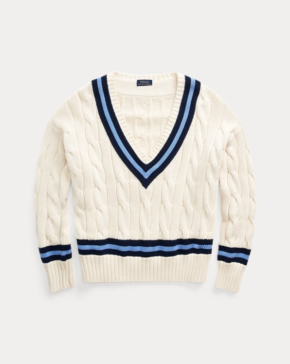 Cable-Knit Cricket Jumper