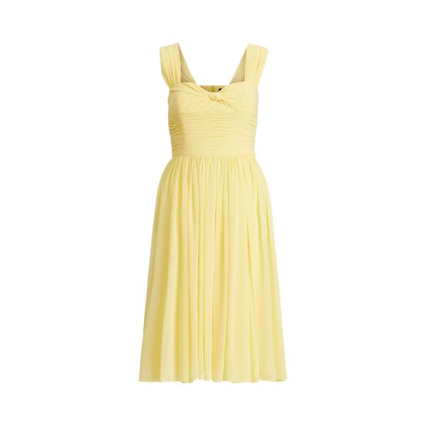 폴로 랄프로렌 Polo Ralph Lauren Sleeveless Crepe Dress,Wicket Yellow
