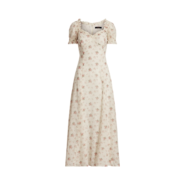 폴로 랄프로렌 Polo Ralph Lauren Floral Cotton Dress,720 Cream Pink Floral