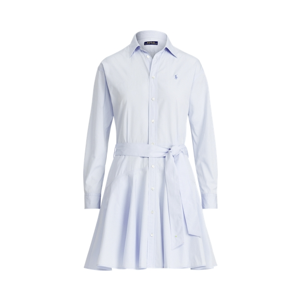 폴로 랄프로렌 Polo Ralph Lauren Cotton Broadcloth Shirtdress,Beryl Blue