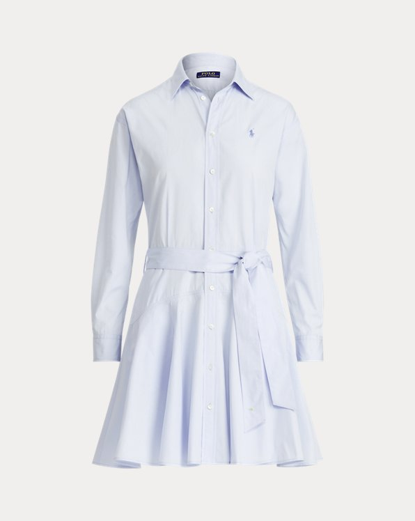 Cotton Broadcloth Shirtdress