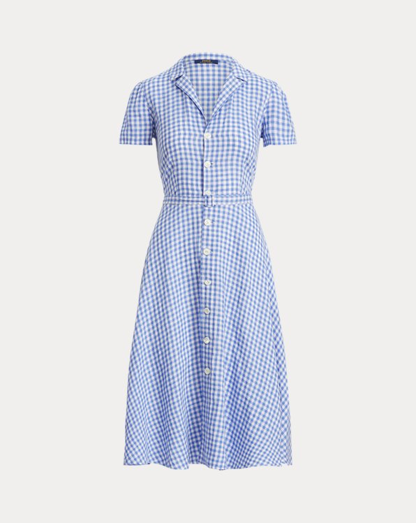 Gingham Linen Shirtdress