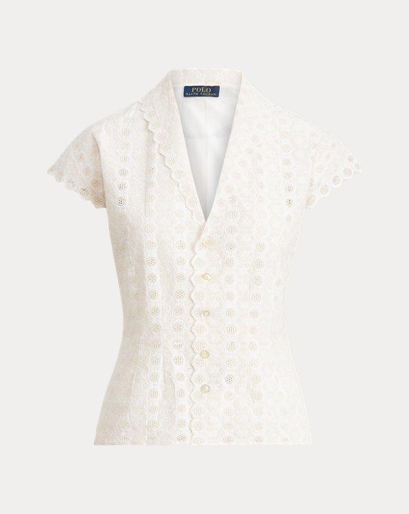 Blusa de algodón con ojal