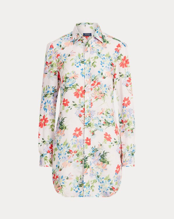 Floral Linen Tunic