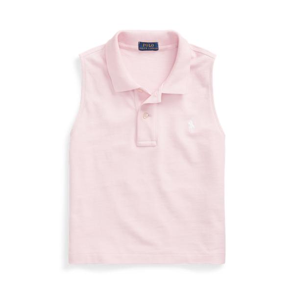 폴로 랄프로렌 Polo Ralph Lauren Cotton Sleeveless Polo Shirt,Garden Pink