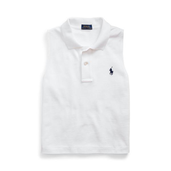 폴로 랄프로렌 Polo Ralph Lauren Cotton Sleeveless Polo Shirt,White