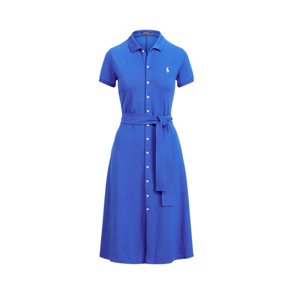 폴로 랄프로렌 Polo Ralph Lauren Pique A Line Polo Dress,New Iris