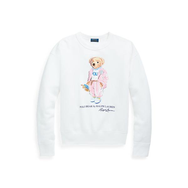 Ralph Lauren Picnic Polo Bear Sweatshirt In White