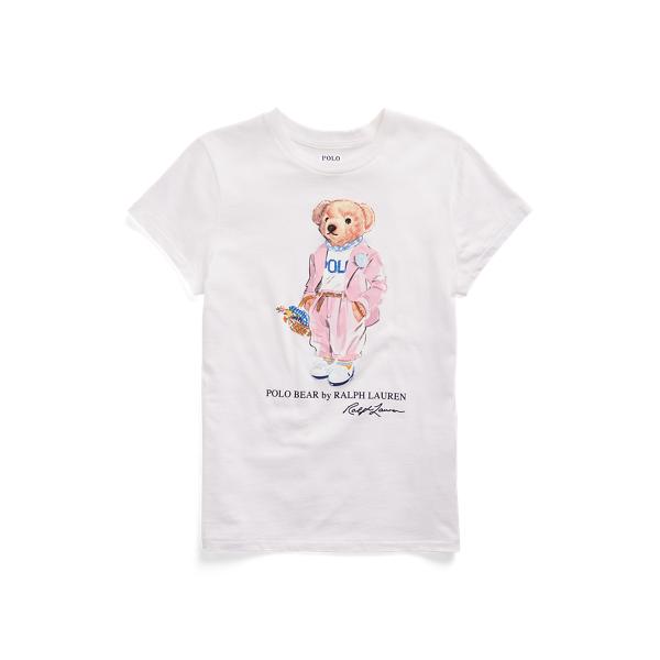 폴로 랄프로렌 Polo Ralph Lauren Picnic Polo Bear Tee,White