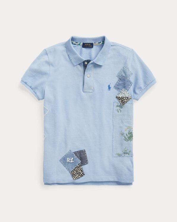 Patchwork Cotton Polo Shirt