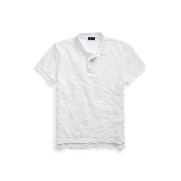 폴로 랄프로렌 Polo Ralph Lauren Eyelet Cotton Polo Shirt,White