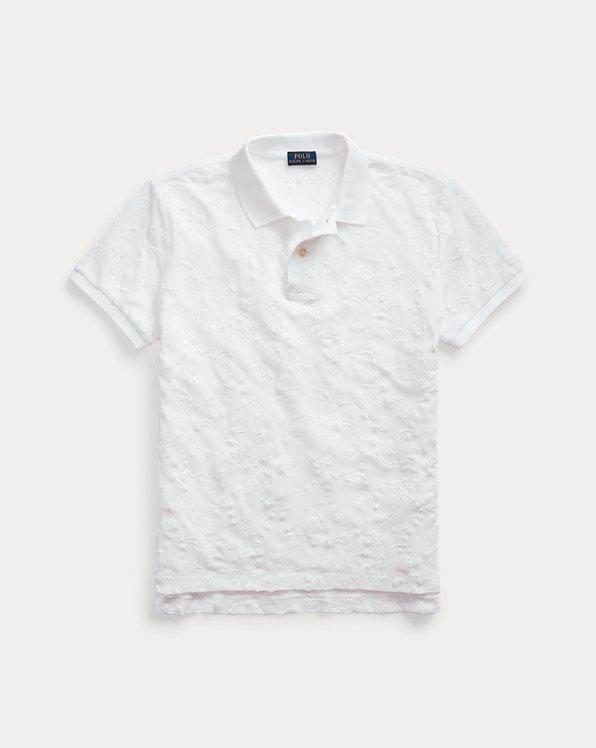 Polo à broderie anglaise en coton