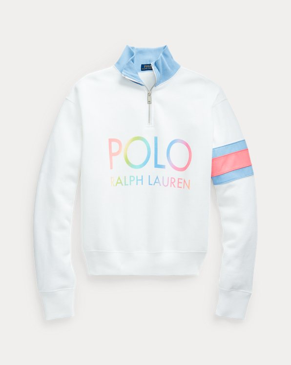 Ombré Logo Fleece Quarter-Zip