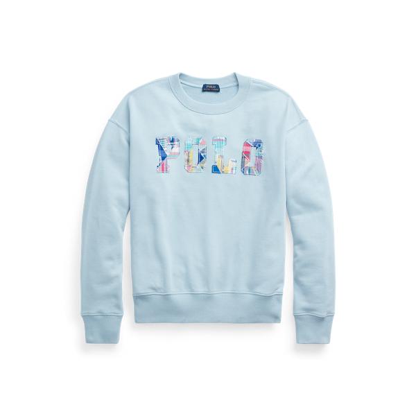 폴로 랄프로렌 우먼 패치워크 로고 맨투맨 Polo Ralph Lauren Patchwork Logo Fleece Sweatshirt,Chambray Blue