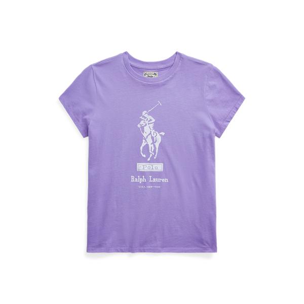 폴로 랄프로렌 Polo Ralph Lauren Big Pony Cotton Tee,Hyacinth