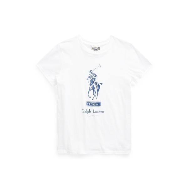폴로 랄프로렌 Polo Ralph Lauren Big Pony Cotton Tee,White