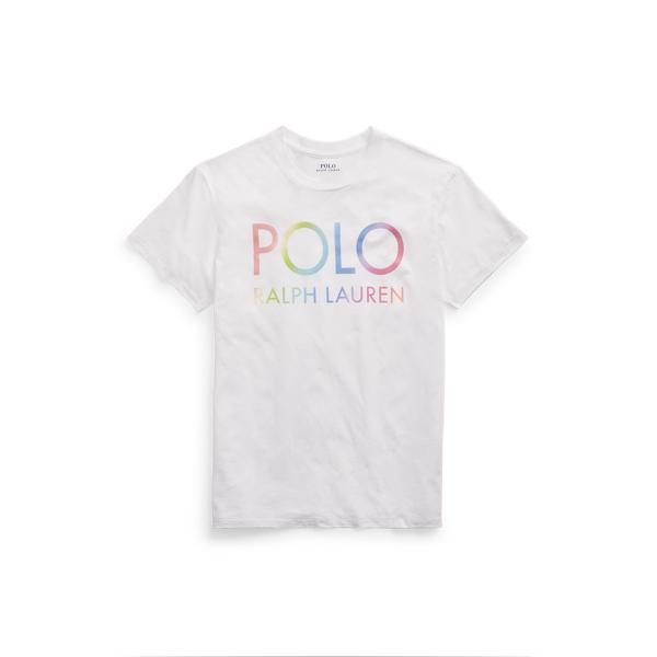 폴로 랄프로렌 Polo Ralph Lauren Big Fit Ombre Logo Tee,White