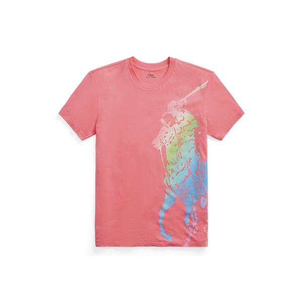 폴로 랄프로렌 Polo Ralph Lauren Big Fit Ombre Pony Tee,Ribbon Pink