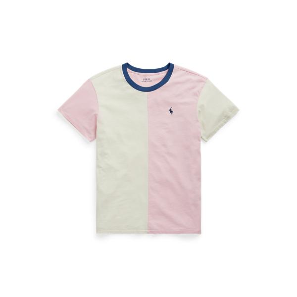 폴로 랄프로렌 Polo Ralph Lauren Cotton Jersey Split Tee,Garden Pink/Chic Cream