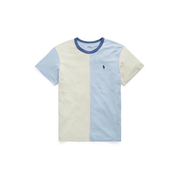 폴로 랄프로렌 Polo Ralph Lauren Cotton Jersey Split Tee,Chambray Blue/Chic Cream