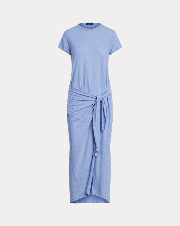 Linen Tee Wrap Dress
