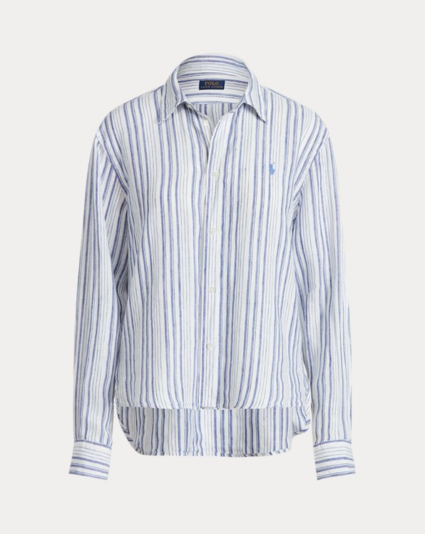 Camisa de lino de rayas