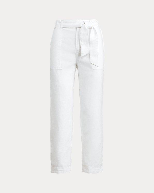Belted Linen Trouser