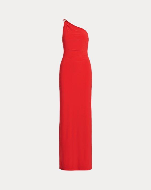 One-Shoulder-Abendkleid aus Jersey