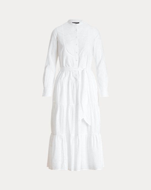 Eyelet Cotton Voile Shirtdress