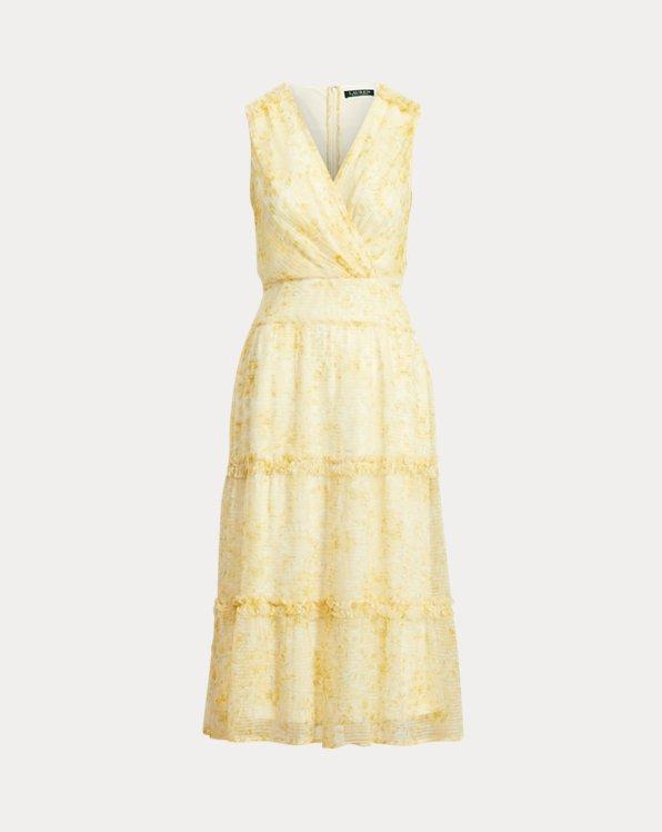 Floral Sleeveless Georgette Midi Dress
