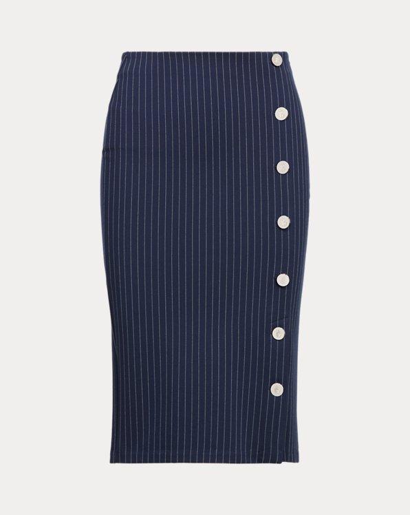 Pinstripe Knit Ponte Skirt