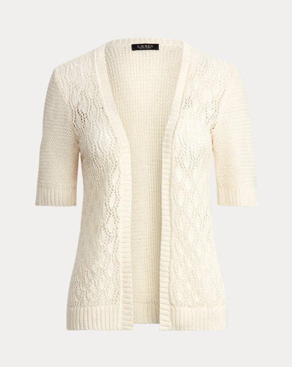 Linen Short-Sleeve Cardigan