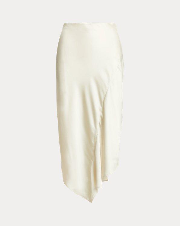 Satin A-line Midi Skirt