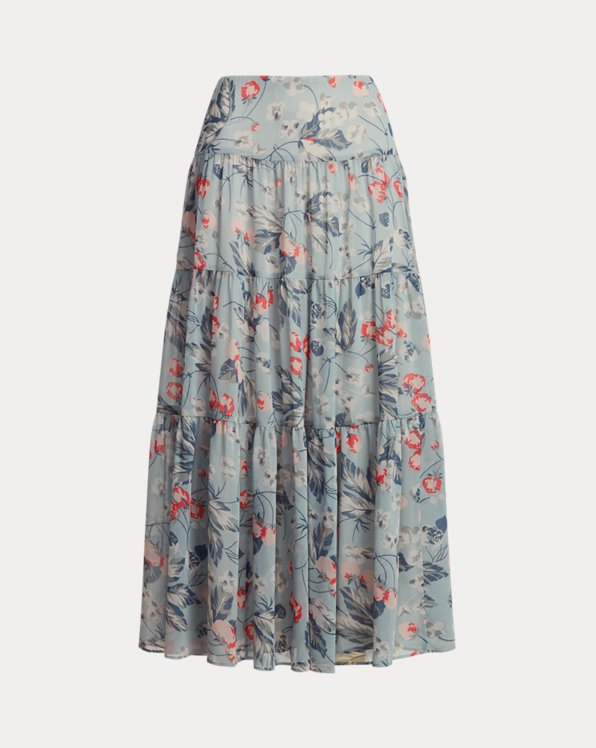 Floral Tiered Peasant Skirt