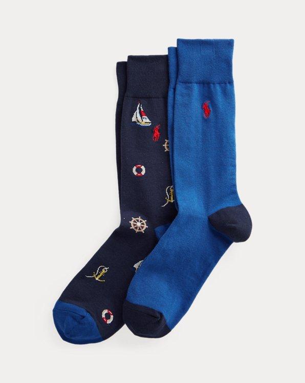 Nautical Trouser Sock 2-Pack