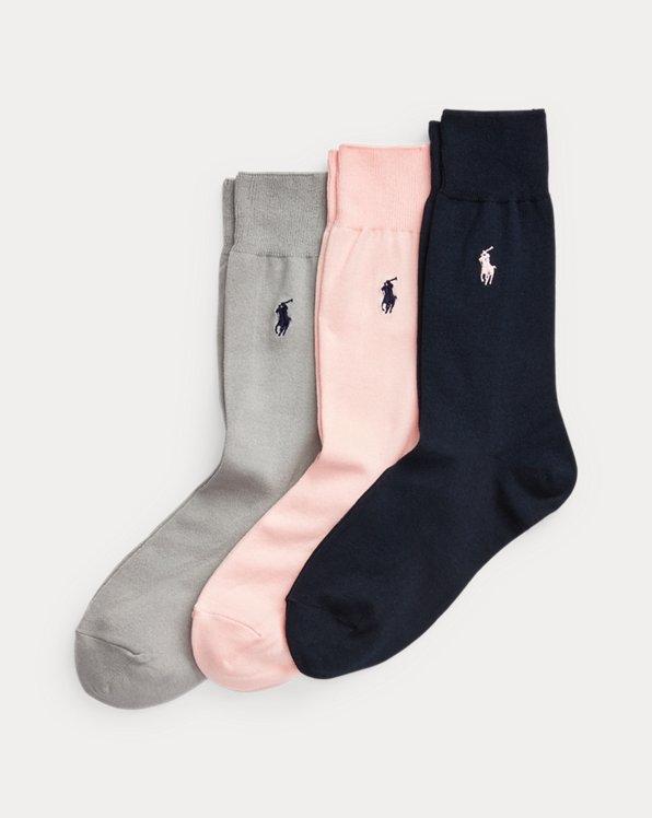 Mercerised Dress Sock 3-Pack