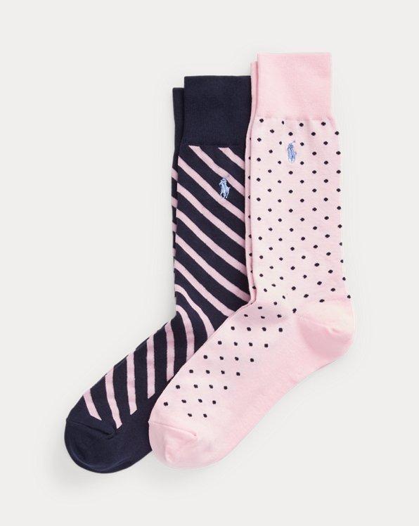 2er-Pack Socken mit Punkten und Streifen