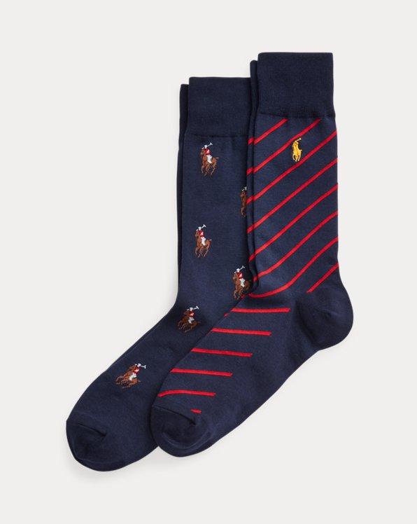 2er-Pack Socken mit Pony und Streifen