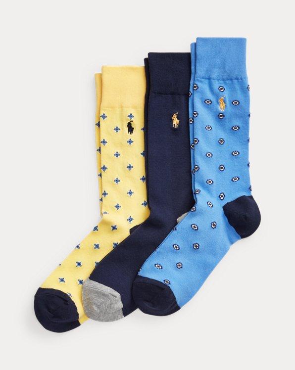 Medallion Trouser Sock 3-Pack