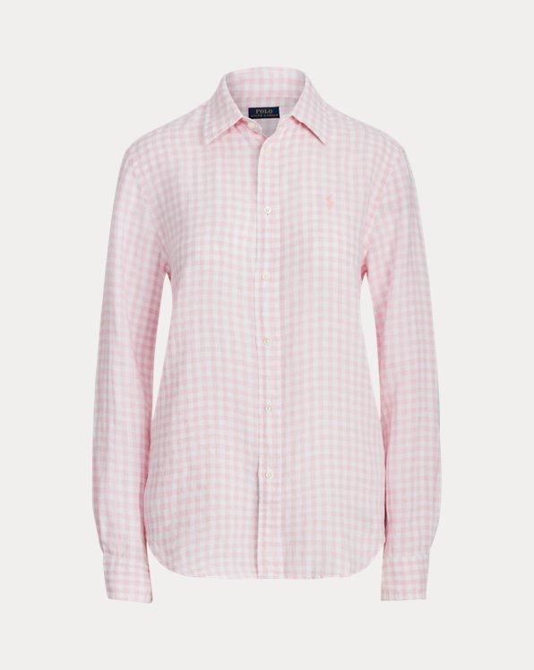 Camicia in lino vichy