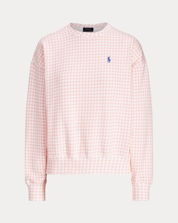 Gingham Fleece Sweatshirt