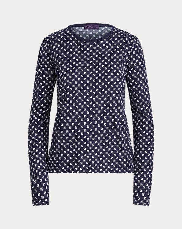Print Cotton Jersey Long-Sleeve Shirt