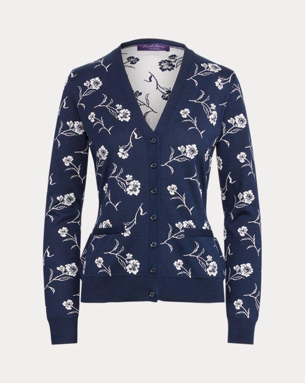 Silk Long-Sleeve Cardigan