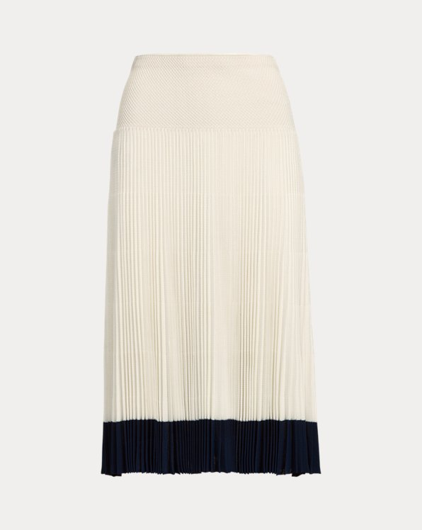 Pleated Jumper Skirt