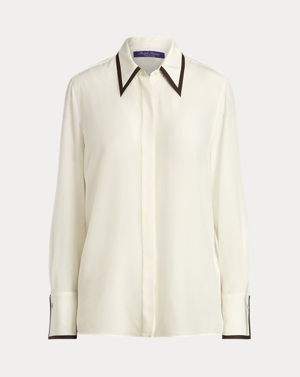 Eamon Silk Crepe de Chine Shirt